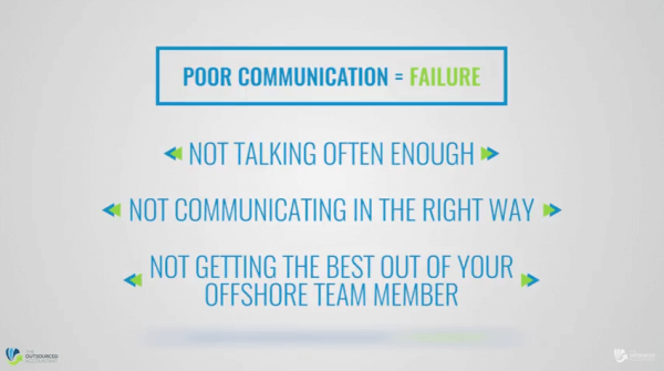 Fast Start Guide to offshoring - poor communication